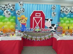 Decorations at a Farm Party for Anthony's 2nd birthday ? Yes I think so