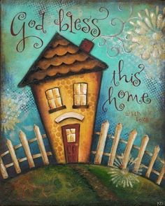 Bless This Home - Personalized. via Etsy.  This is so cute!
