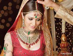 jewelleri collect, red, indian weddings, green, brides, tradit indian, indian fashion, indian bridal, indian bride