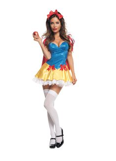 Adult Sequined Snow White Costume #Halloween