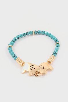 Locked in Love Ellie Bracelet in Turquoise @Stefanie W Giulietti