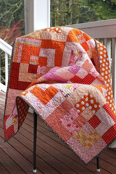 Easy Bento Box baby quilt pattern