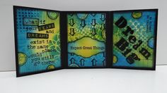 Welcome! Today I'm sharing a triptych. I make these every now and again, usually with a mix of inspirational stamps or quotes. Click on any photo to enlarge. Xyron is launching several new produ...