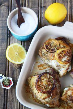Rosemary Chicken Dinner For Two:  Rosemary Lemon Chicken