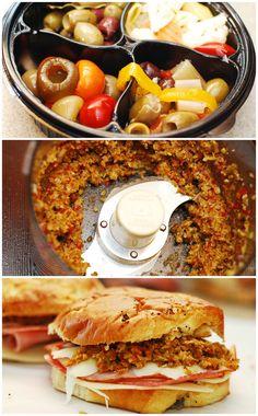 Muffaletta Sandwich with Olive Salad