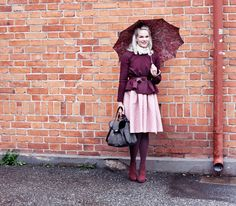 Burgundy and pale pink