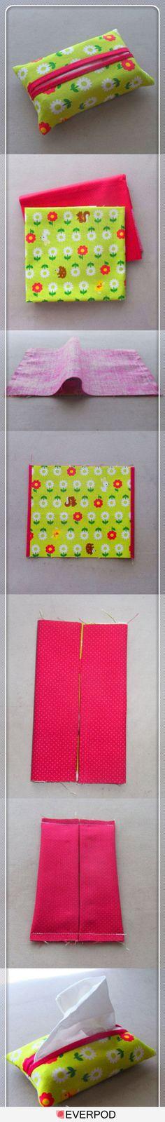 idea, gift, craft, bag, tutorial, tissue boxes, beginner sewing projects, tissu holder, diy