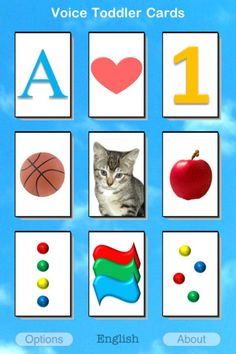 Voice Toddler Cards - the talking flashcards ($1.99) This fun app will entertain your toddler and familiarize him / her with alphabets, shapes, numbers, colors, animals, food and everyday things.  It does this by presenting a collection of 400 beautiful, real photo flashcards that talk in English OR Spanish OR in Your Voice. When your child touches a card with an animal photo in it, the card will also make the animal sound. In addition to animals, this app also has sounds effects.