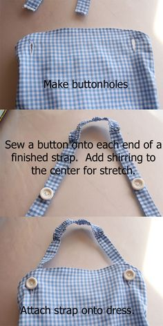 The Train To Crazy: Handmade Costumes: DIY Dorothy Costume Tutorial like the straps