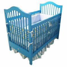 Statement crib! #colorful #nursery #blue