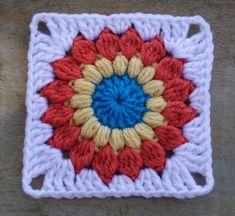 sunburst granny square pattern