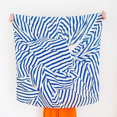 Stripe Link Furoshiki in Navy.  Super cute for spring or a summer evening.    http://plasticastore.com/?product=furoshiki-scarf-by-link