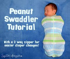 Cute swaddler that has a 2 way zipper for easy access to diaper changes while being swaddled :)