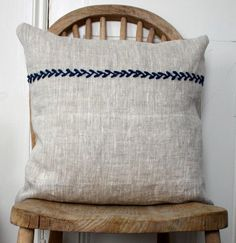 Simplicity embroidered cusion/pillow $42