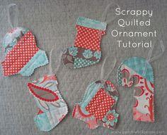Quilt as you go Scrappy Ornaments Tutorial #rileyblakedesigns #verona #emilytaylor