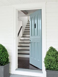 Benjamin Moore's Grand Entrance, High-Gloss, Breath of Fresh Air 806 (http://www.benjaminmoore.com/en-us/paint-color/breathoffreshair) blue doors, front doors, fresh air, paint colors, hous, front door colors, benjamin moore, blues, color trends