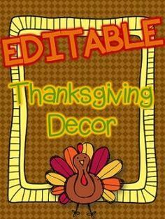 Thanksgiving Decor - EDITABLE