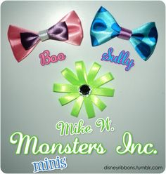 Monsters Inc. Bows