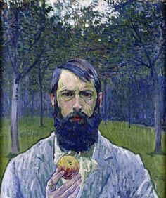 Cuno Amiet (1868-1961): Self Portrait with Apple, 1903, Private collection
