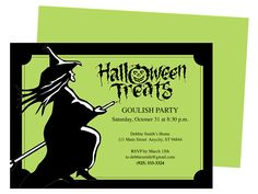 witch halloween party invitation template