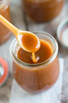 Homemade salted caramel sauce is so easy to make that you won't need to buy it from the store! Make a bunch to store in the fridge for future dessert use!