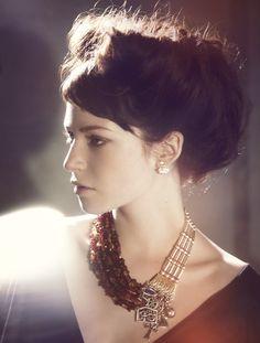Azza Fahmy Nostalgia Collection Campaign, a retrospective on Designer Azza Fahmy's Milestones- Model in Rumuz Charms Necklace