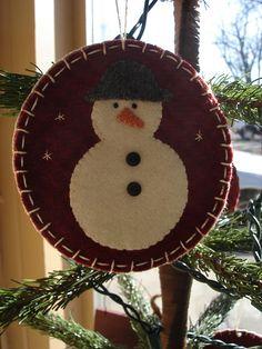 Wool snowman ornament...