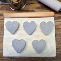 Wooden Toy Cookie Sheet and Heart-Shaped Cookies. So much fun for budding bakers!