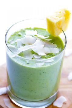 Green Pina Colada Smoothie | Gimme Some Oven