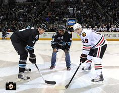 Pablo Sandoval drops the puck at the Sharks vs. Blackhawks game on January 28, 2010