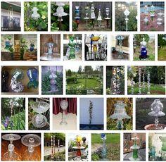Junk birdbaths, garden totems, etc.