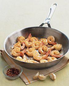 garlic shrimp. yum.