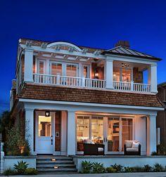 shore house, exterior column, coastal house, window, dream homes
