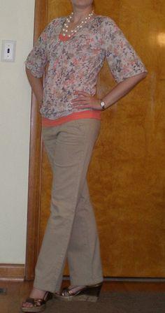 Лето штаны цвета хаки наряд