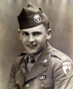 """This is Harry Kaplun on Sept. 11, 1943 shortly after graduating from jump school. He served in the 11th Airborne Division in the Pacific during the Second World War. Photo provided. Click to read """"Harry Kaplun, part of 11th Airborne that captured Japanese Prison Camp""""."""