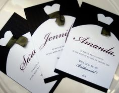 very cute and simple way to ask bridesmaids