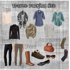 travel: packing list