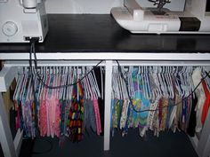 good idea for fabric storage