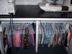 good idea for fabric storage