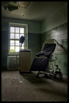 Children's ward of abandoned hospital