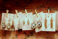 tiny clothes pins to hold cards