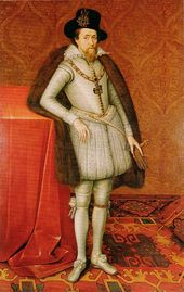 James VI (1566 - 1625). King of Scotland from 1567 to his death in 1625. Also King of England from 1603 to 1625. He was the heir of Elizabeth I and united Scotland and England under one monarch. He married Anne of Denmark and had three children who lived past infancy.