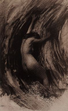 """""""Struggle"""", a gum bichromate photography by French photographer Robert Demachy"""