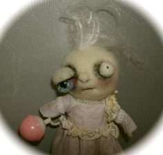 cutest ZOMBIE BABY ever  Ooak art doll by papermoongallery on Etsy, $79.00