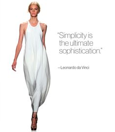 [fashion quotes, fashion inspiration] Image from the Calvin Klein spring 2011 runway show. #fashion #quotes