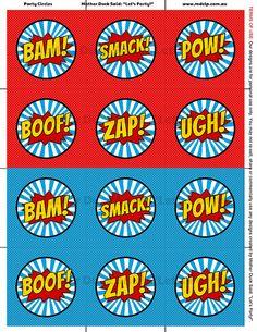 Super Hero Party Circles