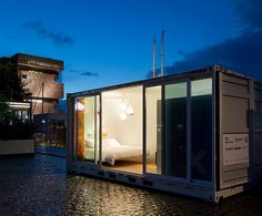 sleeping around: mobile shipping container hotel