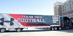 Texas Tech University Red Raiders - equipment transporter for away football games