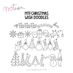 MTF Christmas Wish Doodles font