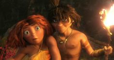 Eep and Guy, The Croods. Baha this part was funny.